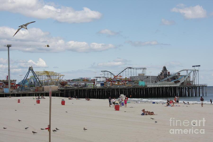 Casino Pier Photograph - Labor Day At The Pier  by Laura Wroblewski