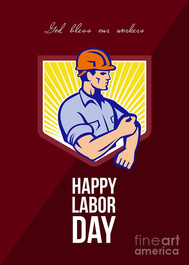 Labor Day Celebration Greeting Card Poster Digital Art by Aloysius ...