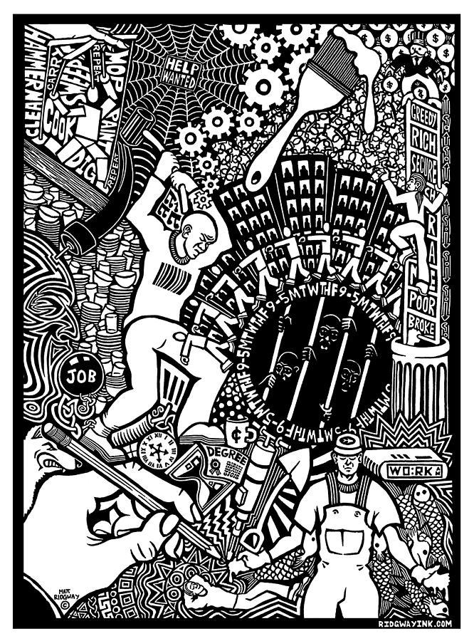 Labor Relief - Labor Daze by Matthew Ridgway