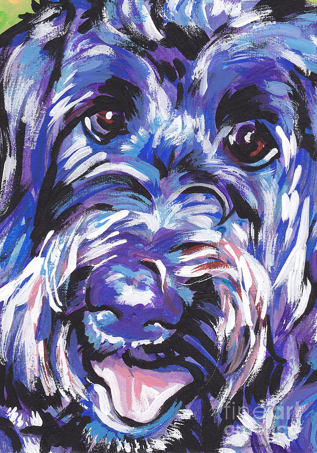 Labradoodle Painting - Labra Doodly Do by Lea S