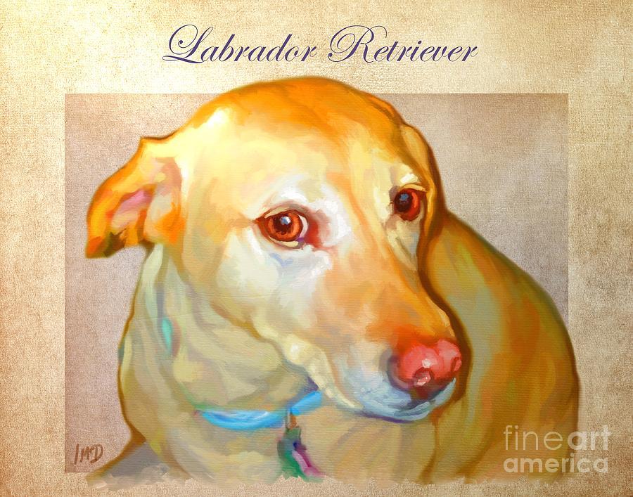 Dog Painting - Labrador Art by Iain McDonald