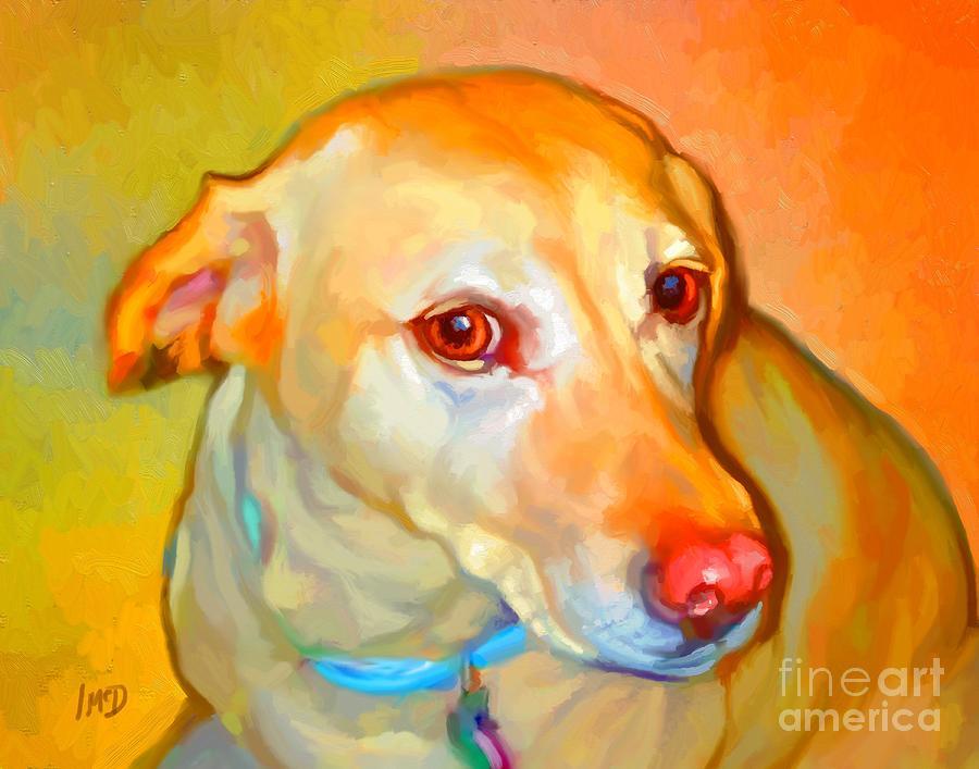 Dog Painting - Labrador Painting by Iain McDonald