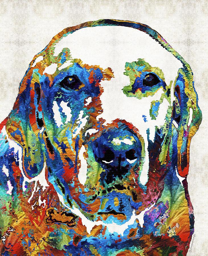 Labrador Retriever Painting - Labrador Retriever Art - Play With Me - By Sharon Cummings by Sharon Cummings