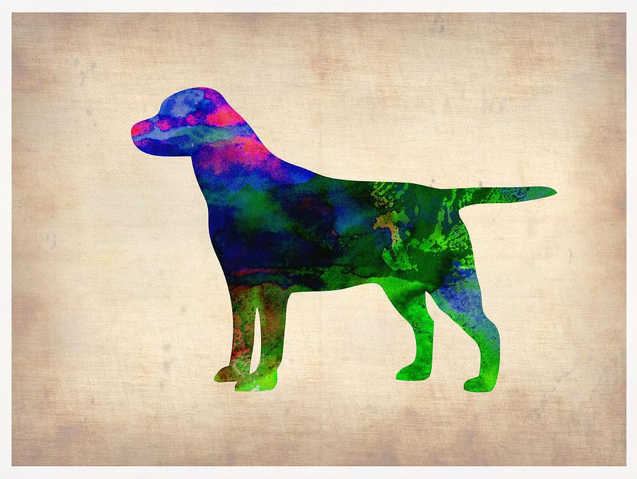 Labrador Retriever Painting - Labrador Retriever Watercolor 2 by Naxart Studio