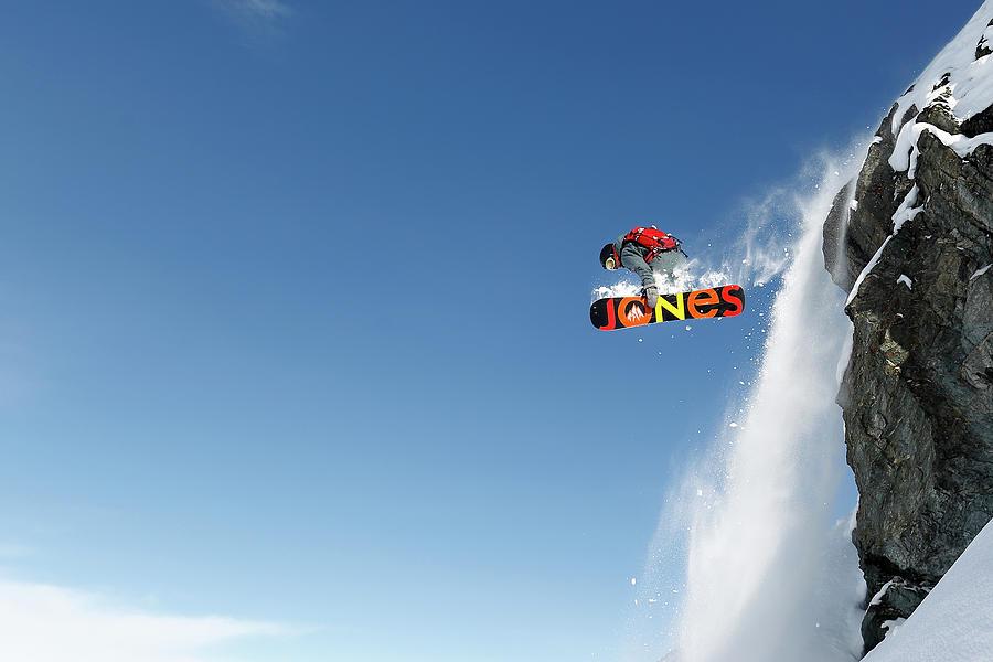 Snowboard Photograph - Lac Des Vaux by Jakob Sanne