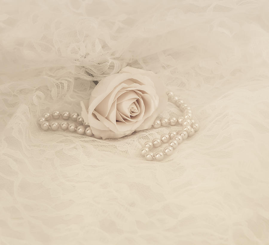 Pearl Photograph - Lace And Promises by Kim Hojnacki