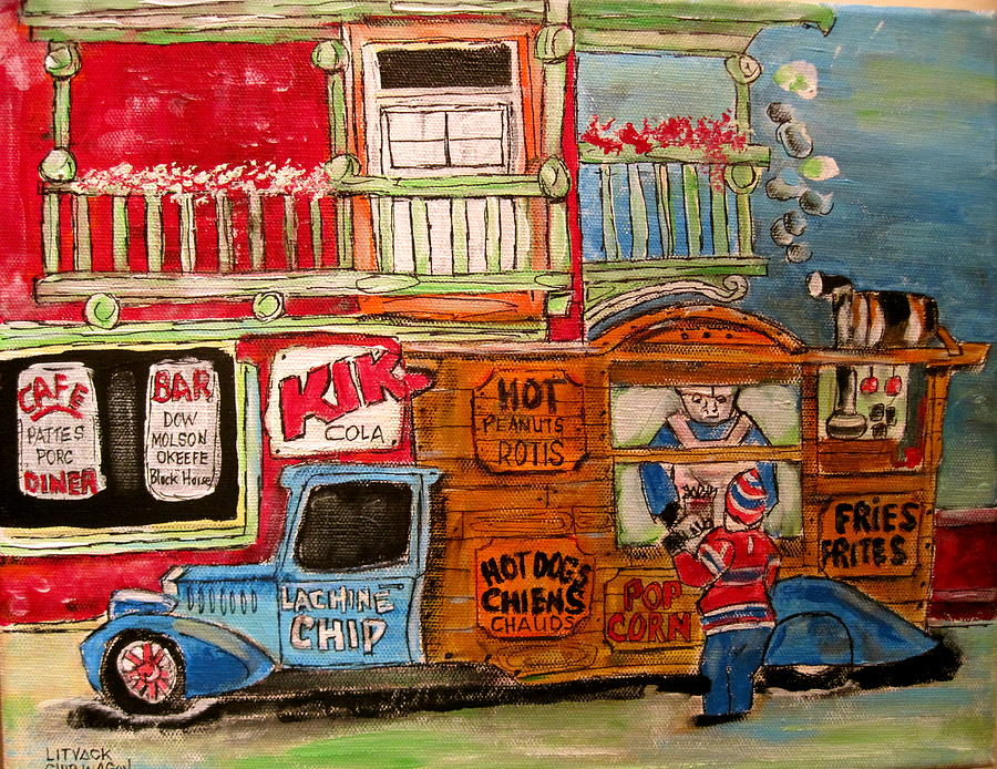 Chips Painting - Lachine Chip Wagon by Michael Litvack