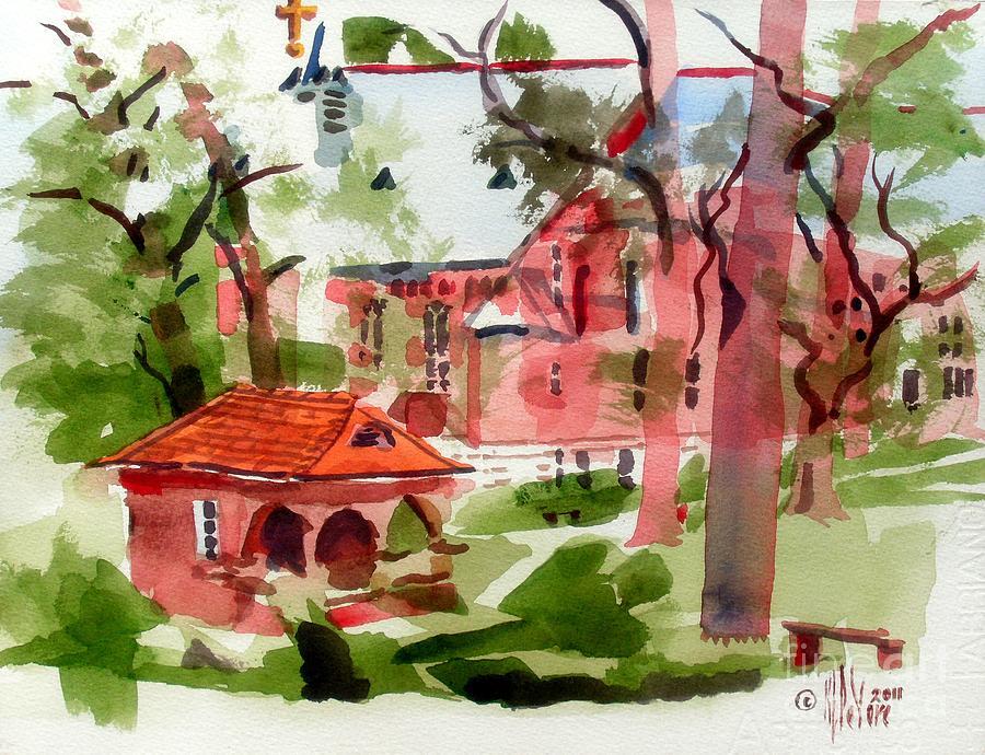 Ursuline Painting - Lacy Spring Greens At Ursuline Academy by Kip DeVore