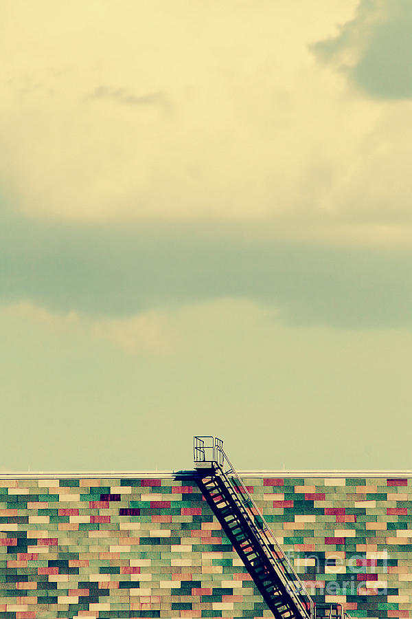 Clouds Photograph - Ladder To Nowhere  by Trish Mistric