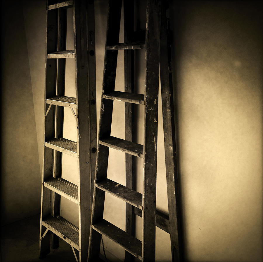Diy Photograph - Ladders by Les Cunliffe