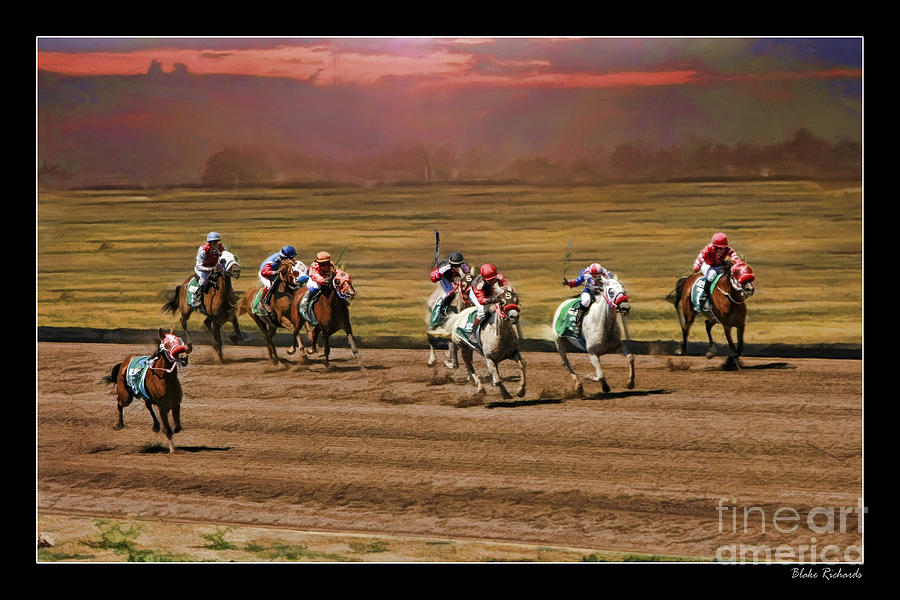 Race Horse Photograph - Ladies World Chapionship Ladies Cup Missing One Lady by Blake Richards