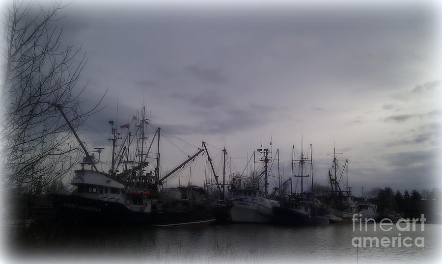 Fishing Photograph - Ladner Harbour In Winter by Victoria Heryet
