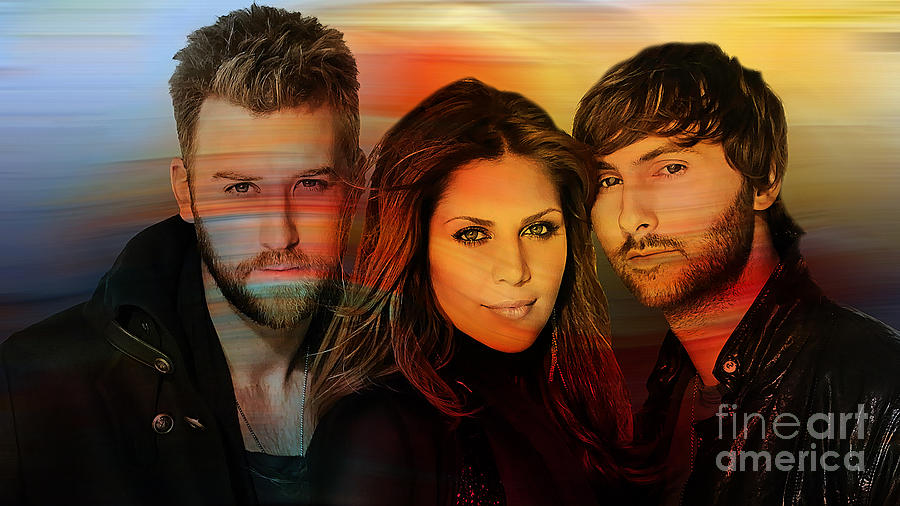 Lady Antebellum Mixed Media by Marvin Blaine