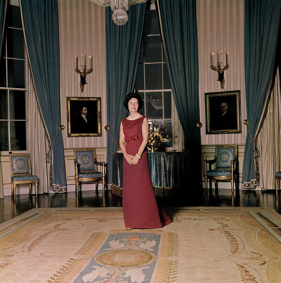 Lady Bird Johnson In The White House Photograph by Horst P. Horst