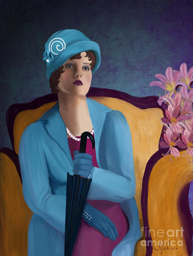 Adult Painting - Lady Blue by Sydne Archambault