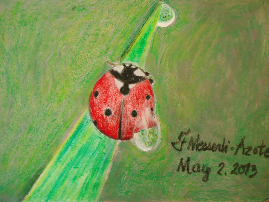 Expressive Painting - Lady Bug 2 by Fladelita Messerli-