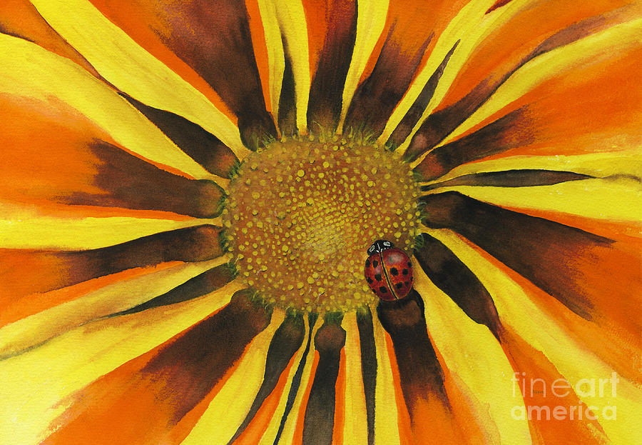 lady Bug Painting - Lady Bug by Nan Wright