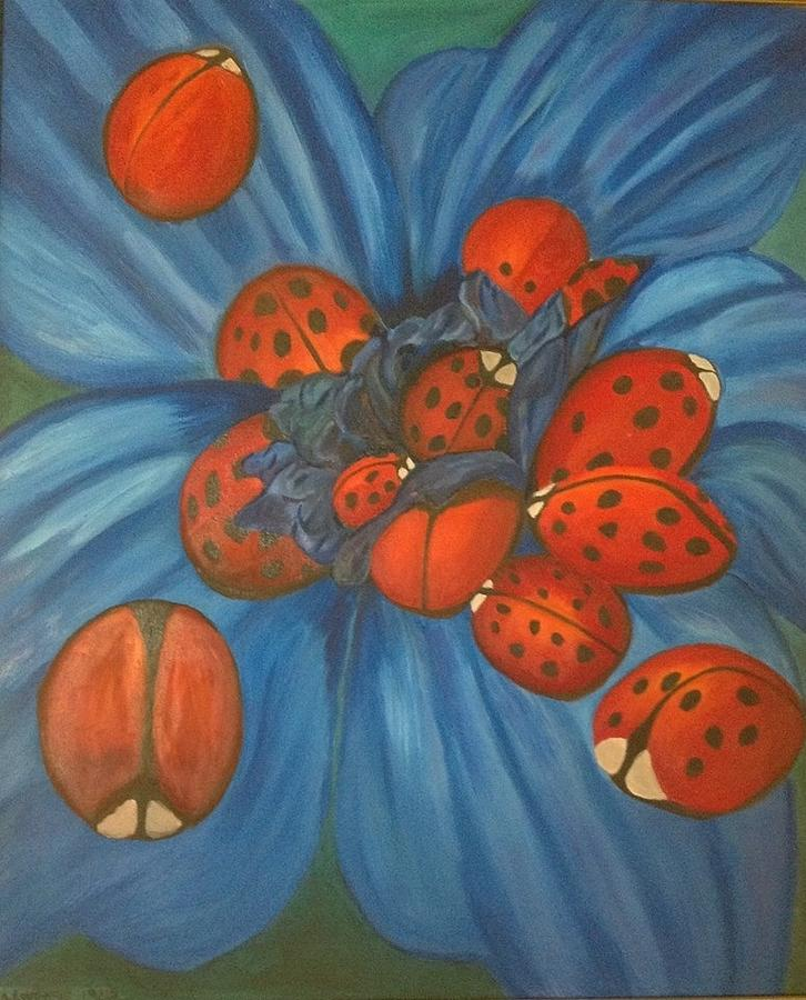 Gwtw Painting - Lady Bugs by Kristy  Kilpatrick