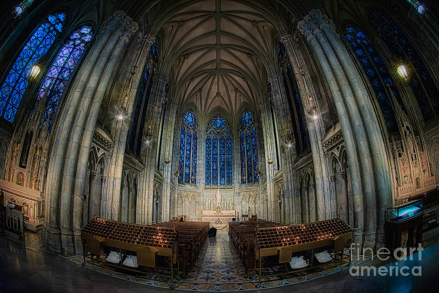 Hdr Photograph - Lady Chapel At St Patricks Catheral by Jerry Fornarotto
