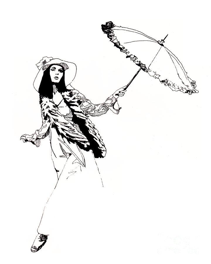 Lady Drawing - Lady by Earl Olson
