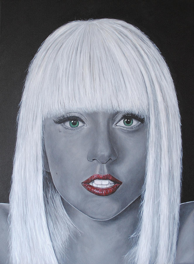 Lady Gaga Painting - Lady Gaga poker Face by David Dunne