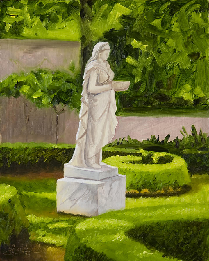 Landscape Painting - Lady Gandes Garden by Gary  Hernandez