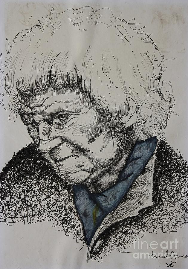 Age Drawing - Lady by Grant Mansel-James