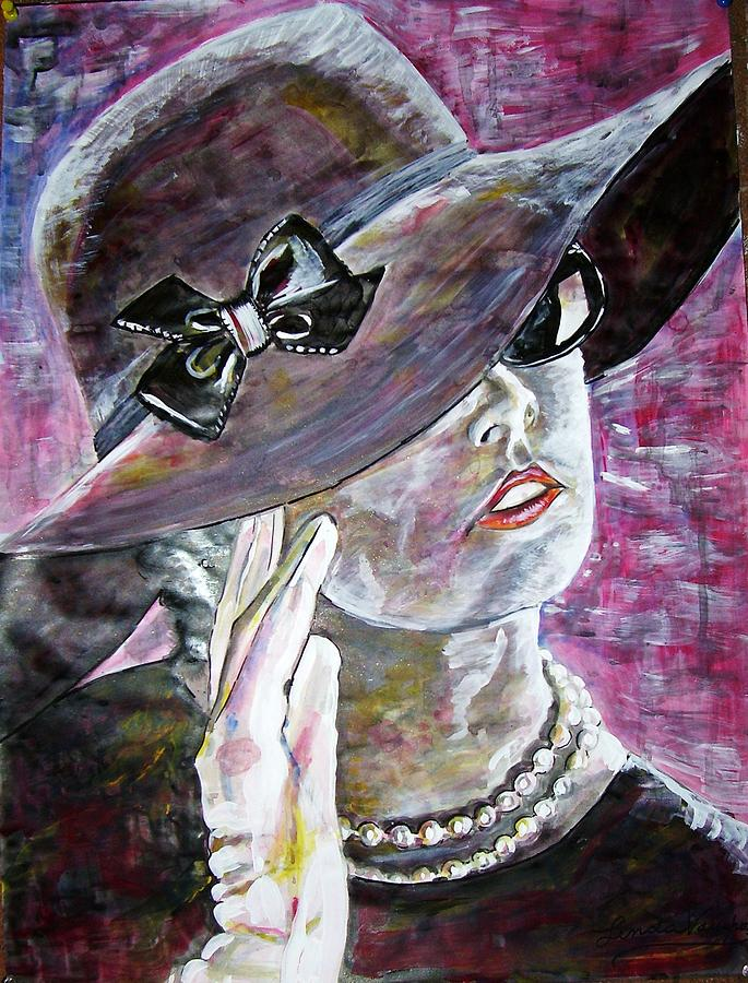 Lady In Gloves Painting by Linda Vaughon