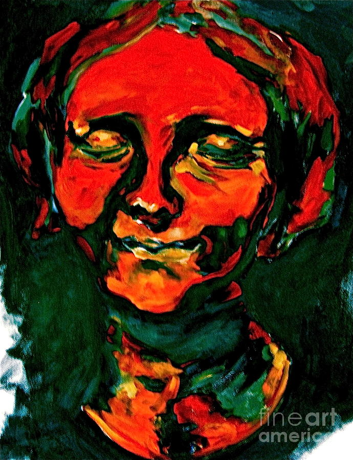 Portrait Painting - Lady In Orange by Michelle Dommer