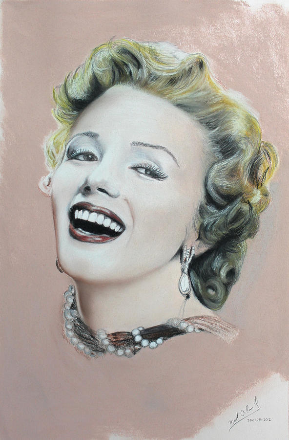 Lady In Pink Step 2 Drawing by Miguel Rodriguez