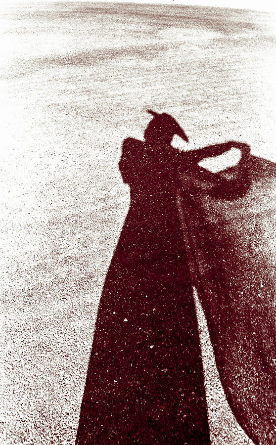 Shadow Photograph - Lady In Red by Caitlyn  Grasso