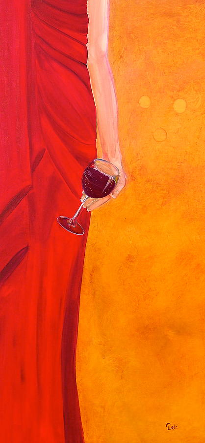 Woman Painting - Lady In Red by Debi Starr