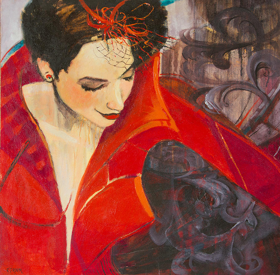 Lady In Red Painting - Lady In Red by Jennifer Croom