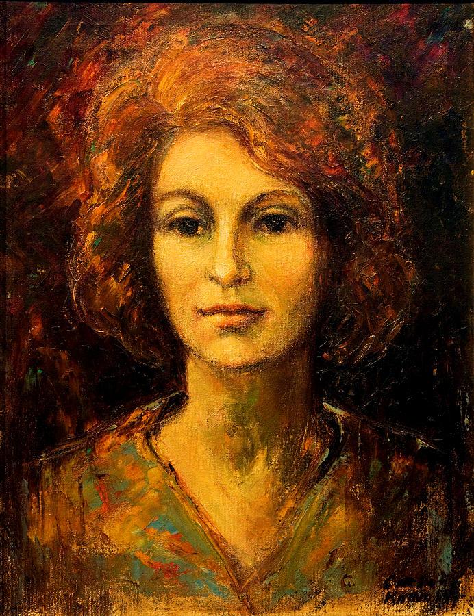 Oil Painting - Lady In Red by    Michaelalonzo   Kominsky