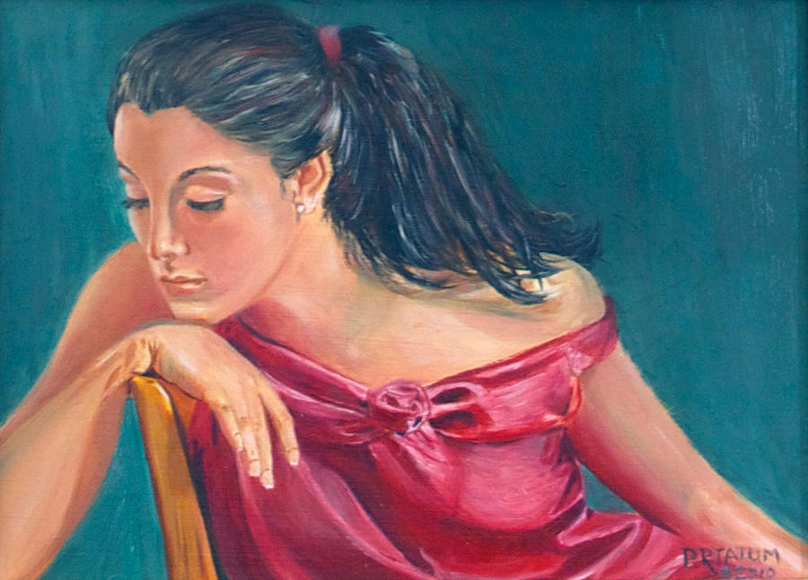 Lady Painting - Lady In Red by Pamela Ramey Tatum