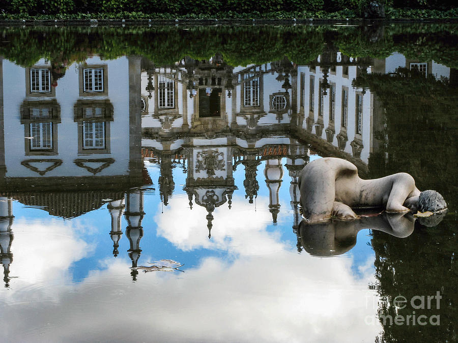 Portugal Photograph - Lady In The Pond by Arlene Carmel