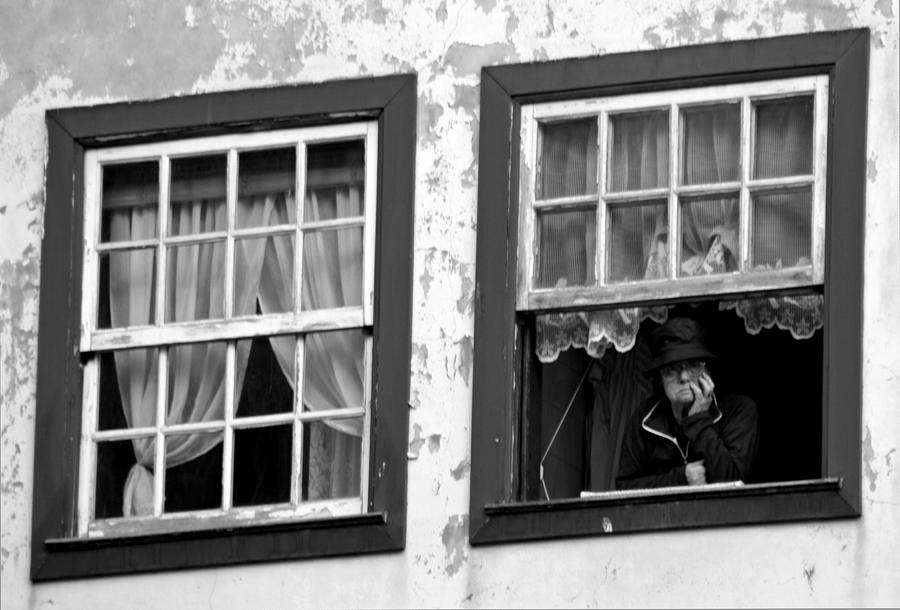 Lady Photograph - Lady In The Window II by Dave Dos Santos