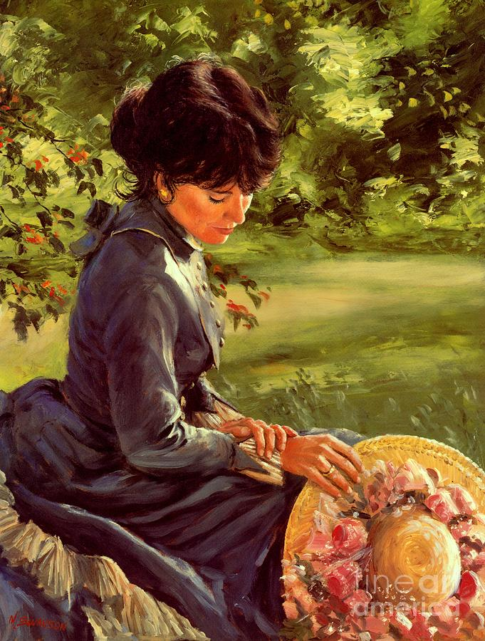 Victorian Lady Painting - Lady Katherine by Michael Swanson