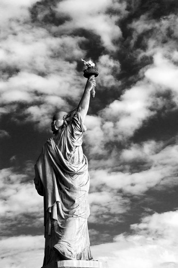 B&w Photograph - Lady Liberty by Alina  Oswald