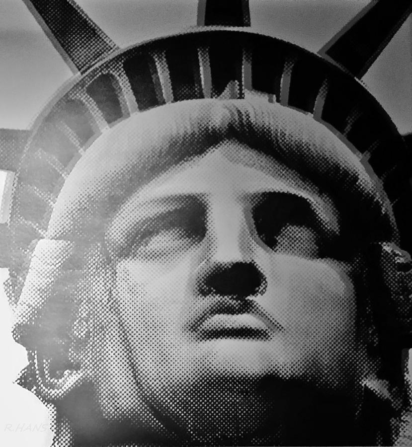 Statue Of Liberty Photograph - Lady Liberty In Black And White1 by Rob Hans