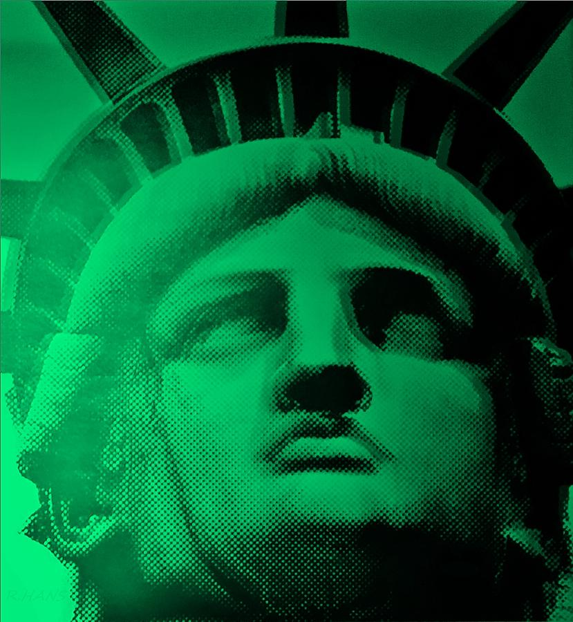 Statue Of Liberty Photograph - Lady Liberty In Copper Green by Rob Hans
