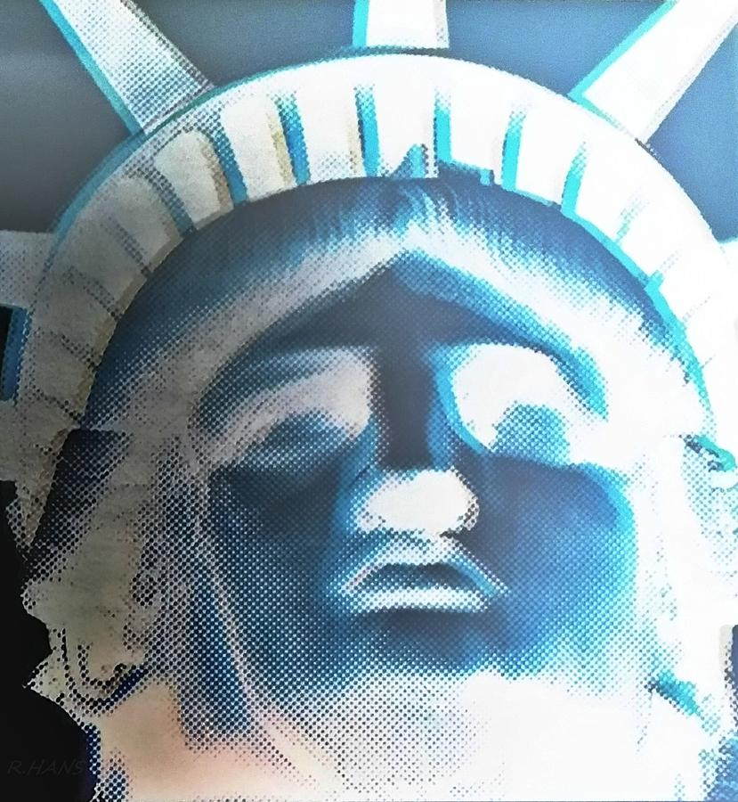 Statue Of Liberty Photograph - Lady Liberty In Negative by Rob Hans