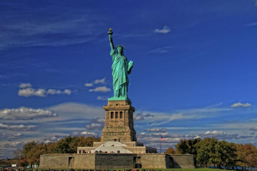 Lady Liberty In New York City Photograph - Lady Liberty In New York City by Dan Sproul