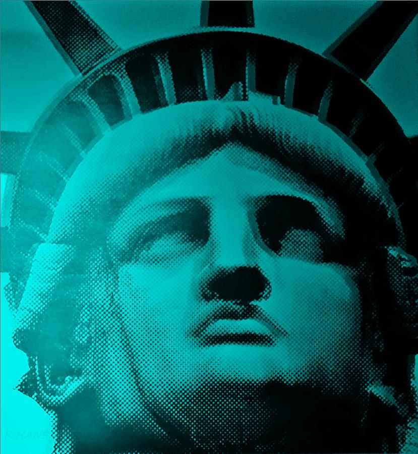 Statue Of Liberty Photograph - Lady Liberty In Turquoise by Rob Hans