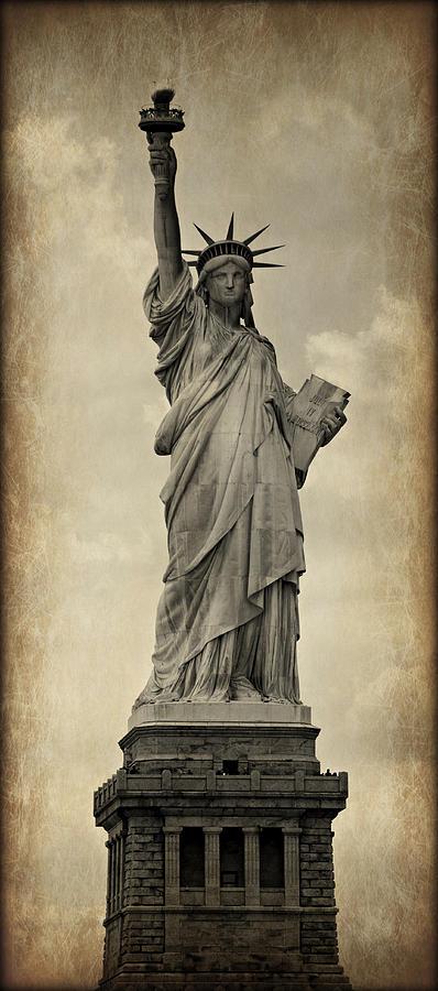 Statue Photograph - Lady Liberty No 11 by Stephen Stookey