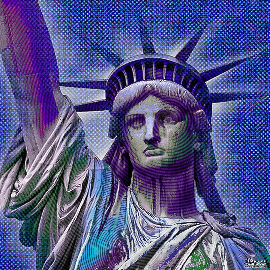 Liberty Painting - Lady Liberty by Tony Rubino