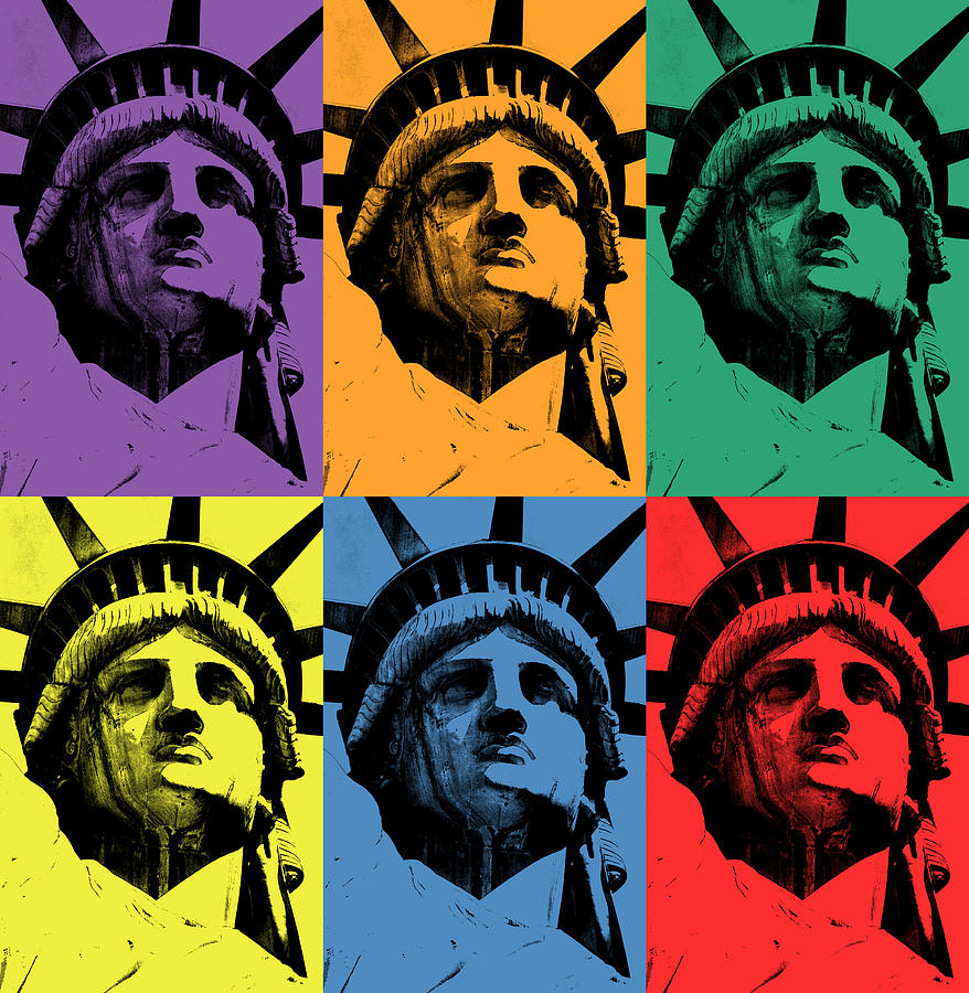 Lady Liberty (triads of primary and secondary colors) Photograph by José Miguel Hernández Hernández