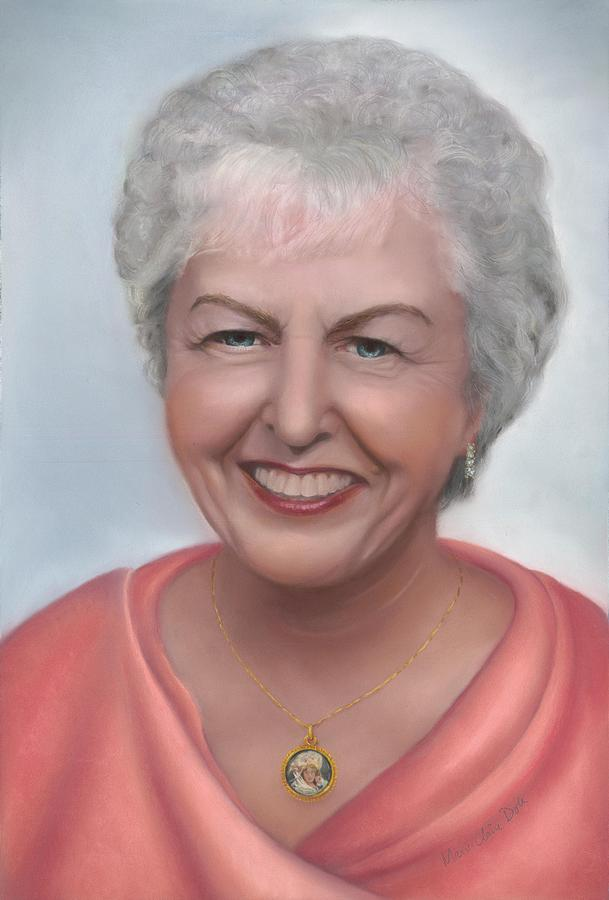 Pastel Portrait Pastel - Lady Lona of Breaside Manor by Marie-Claire Dole