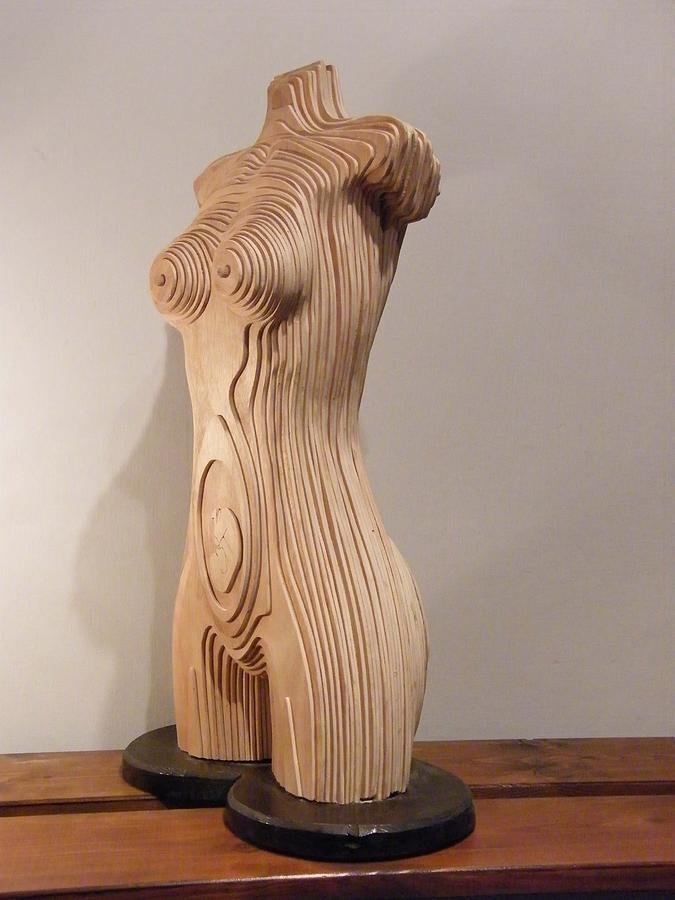 Plywood Sculpture - Lady Madonna by Motti Inbar
