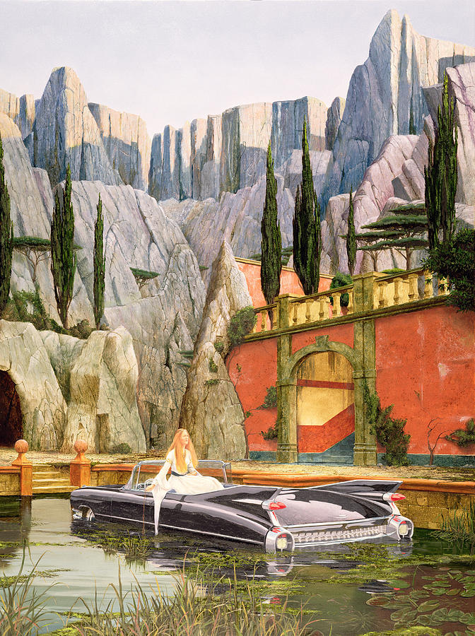 Lady Of Shalott Photograph - Lady Of Detroit, 1992 Oil On Canvas by Trevor Neal
